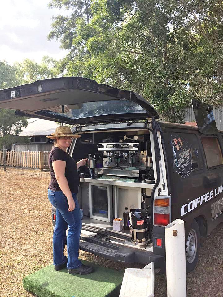 Fiona with Thom & Ann's Coffee Van