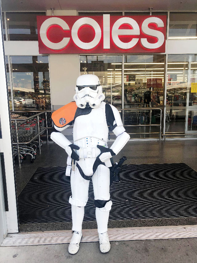 Stormtrooper outside Coles Yarrabilba
