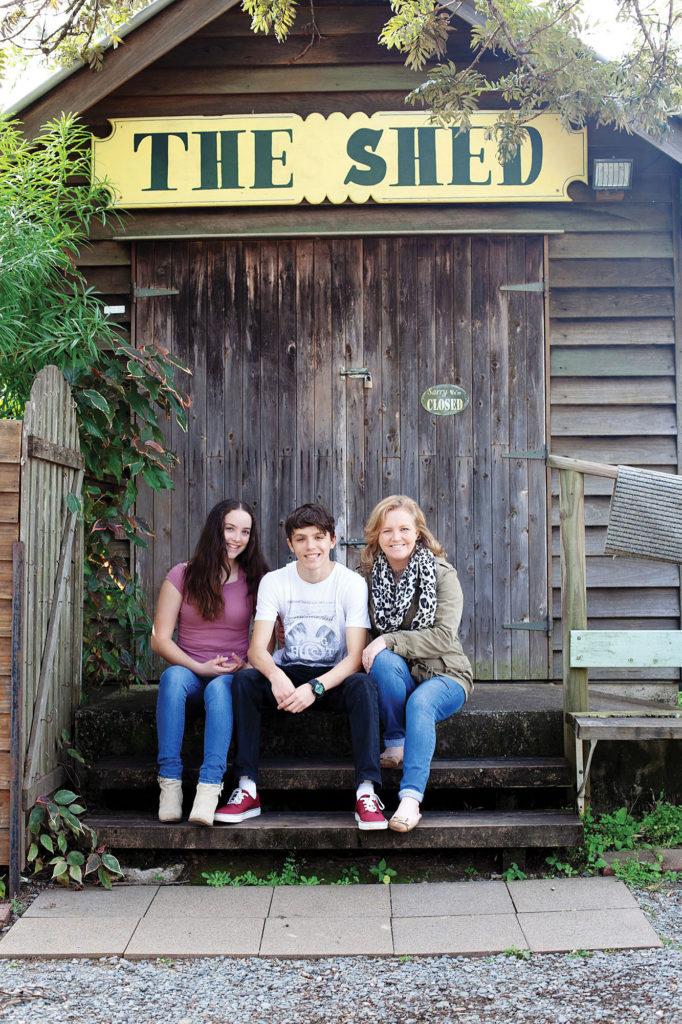 Laurie Koranski with Twins Angie and Alex