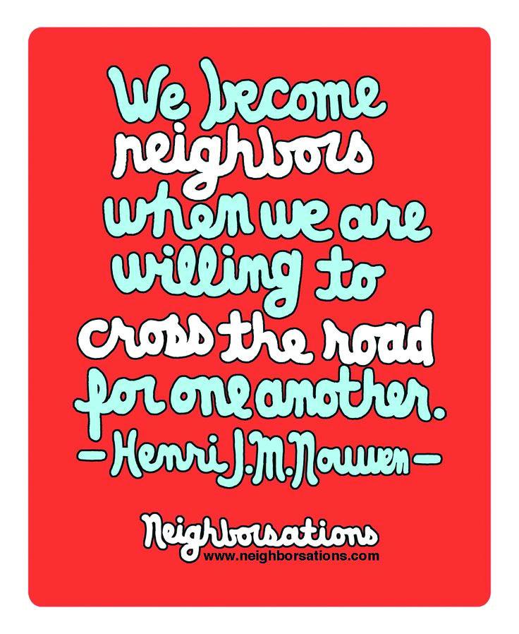 What Makes A Good Neighbourhood?