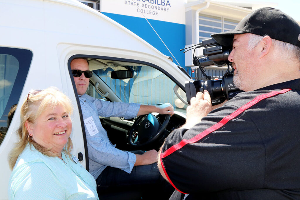 Launch of Logan Regional Chamber Of Commerce Youth Project Bus