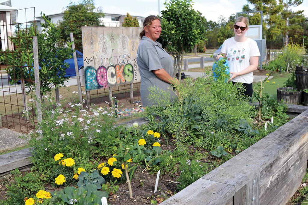 Tash & Talecia tending to the Yarrabilba Community Garden