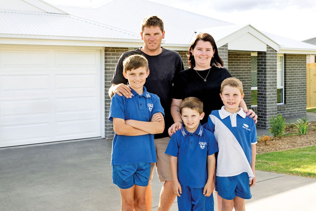 The Gillis Family with their new dream home in Beaudesert