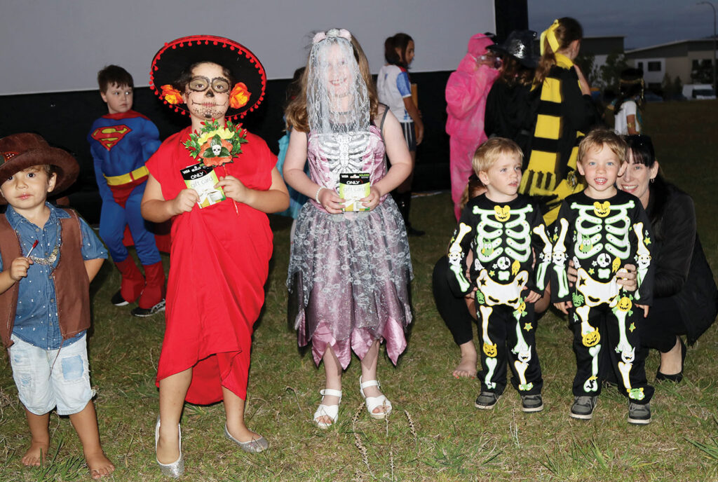 Children and Families dress up for the Halloween Costume Competition