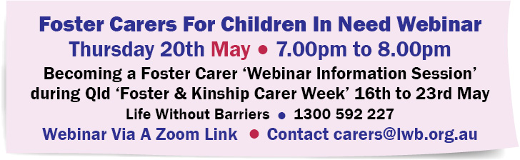 Foster Carers For Children In Need Webinar