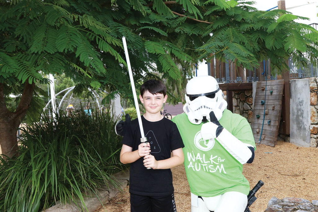 Stormtrooper Michael Telfer with his neighbour