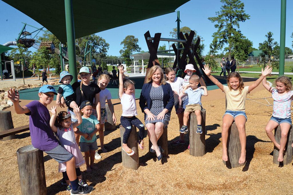 Logan Village's new  Green Adventure Playground