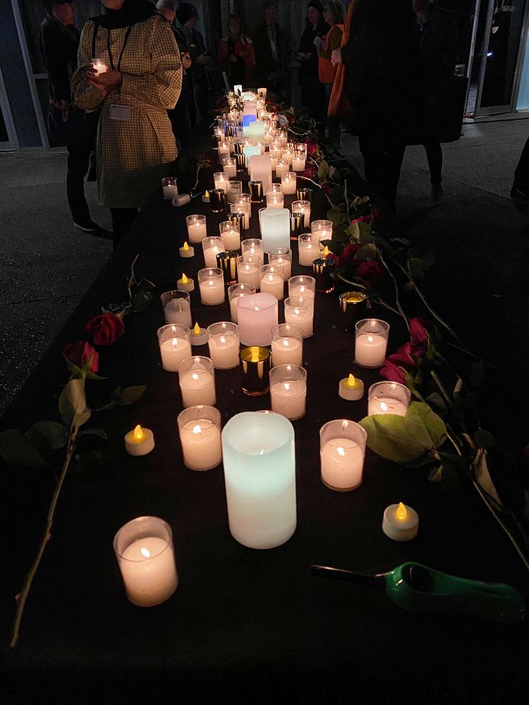 A Candlelight Vigil Held