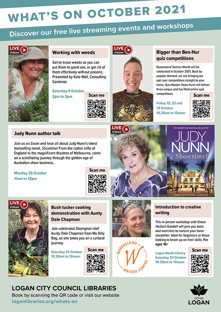 Logan City Council Libraries - What's On In October 2021