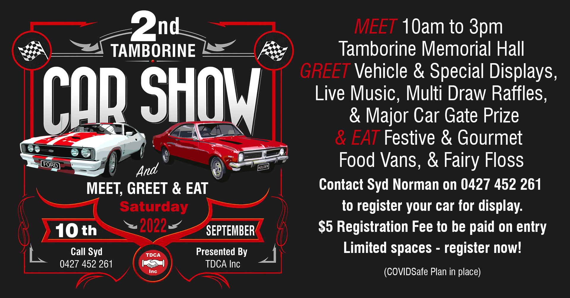 Tamborine's 2nd Annual Car Show 2022