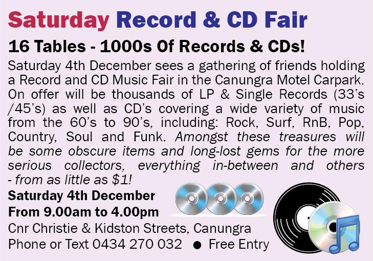 Saturday Record & CD Fair